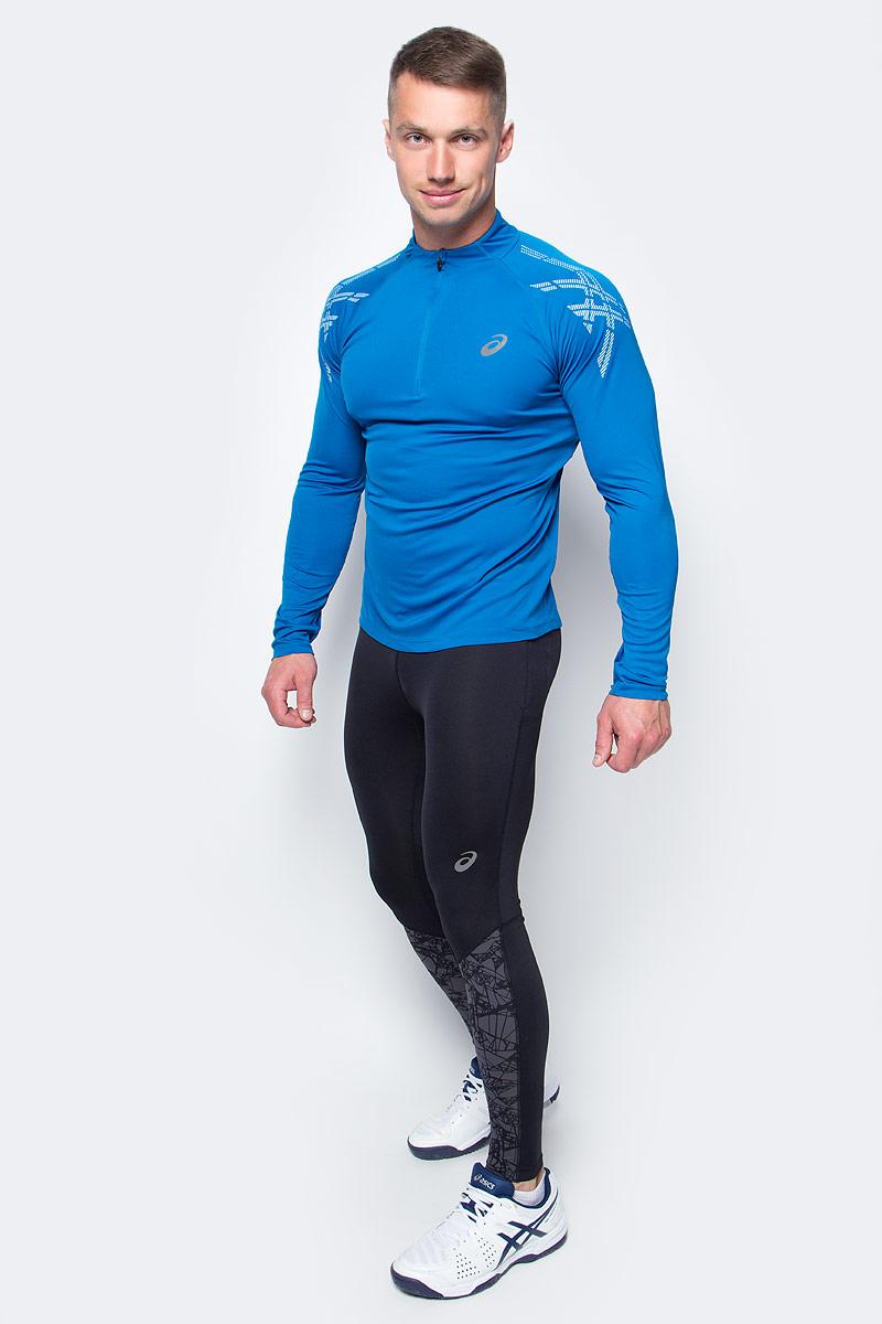 Лонгслив для бега мужской Asics Asics Stripe 1/2 Zip, цвет: синий. 141203-8154. Размер XL (52/54)141203-8154Мужской лонгслив Asics выполнен из полиэстера.У модели воротник-стойка и длинные рукава реглан. Изделие спереди оформлено застежкой-молнией и дополнено светоотражающими деталями. Технология Motion Dry позволяет выводить влагу, оставляя тело сухим и сохраняя его оптимальный температурный режим.