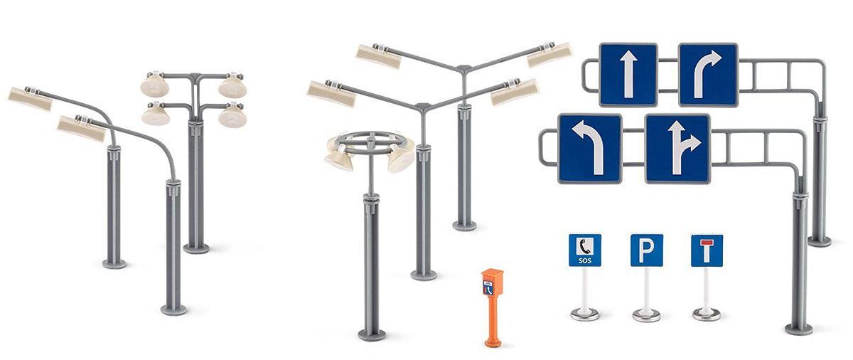 Siku Фонари и дорожные знаки 12 шт для сада фонари