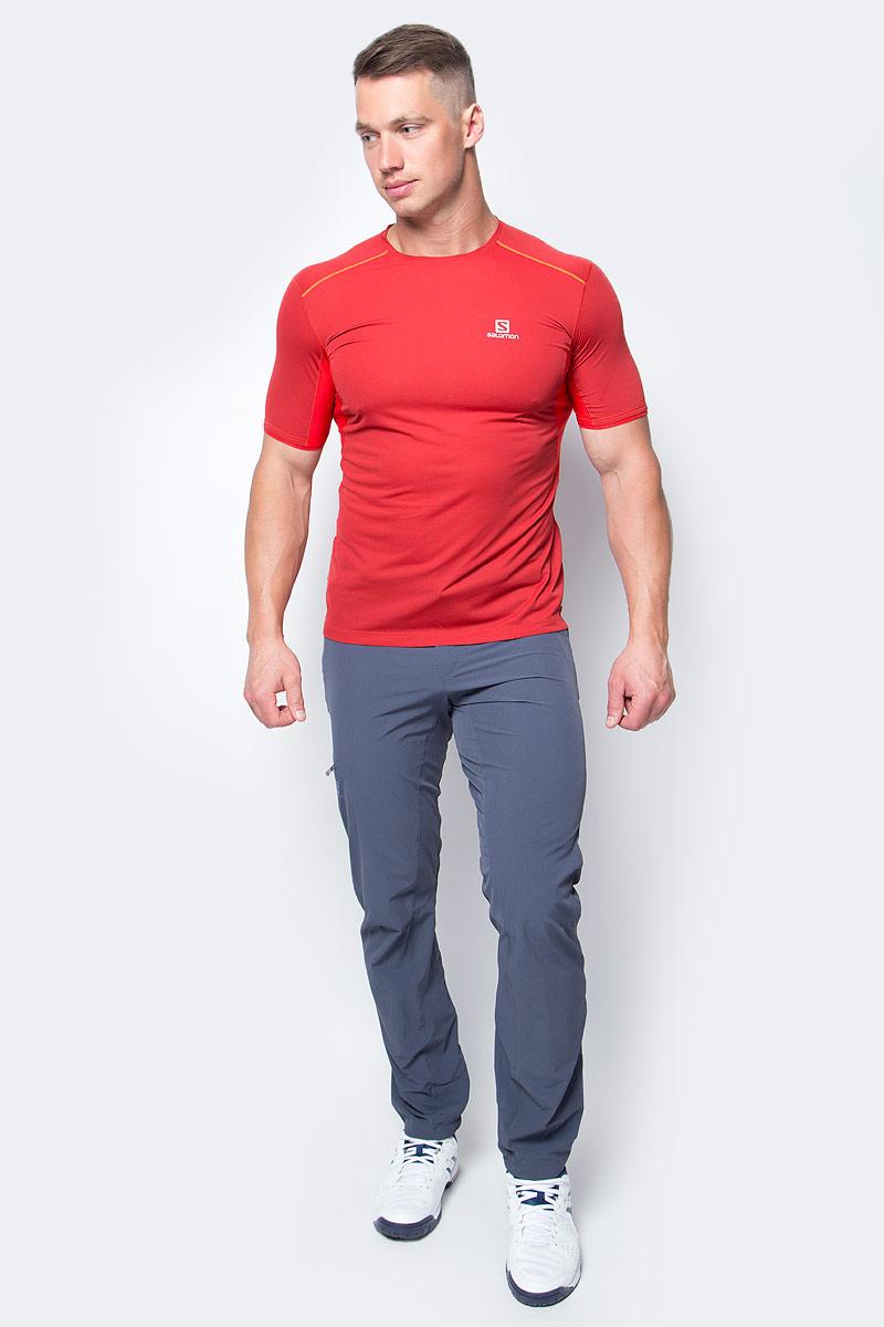 Футболка для бега мужская Salomon Trail Runner Ss Tee M, цвет: красный. L39385400. Размер XXL (60) футболка salomon футболка ski graphic ss tee m black
