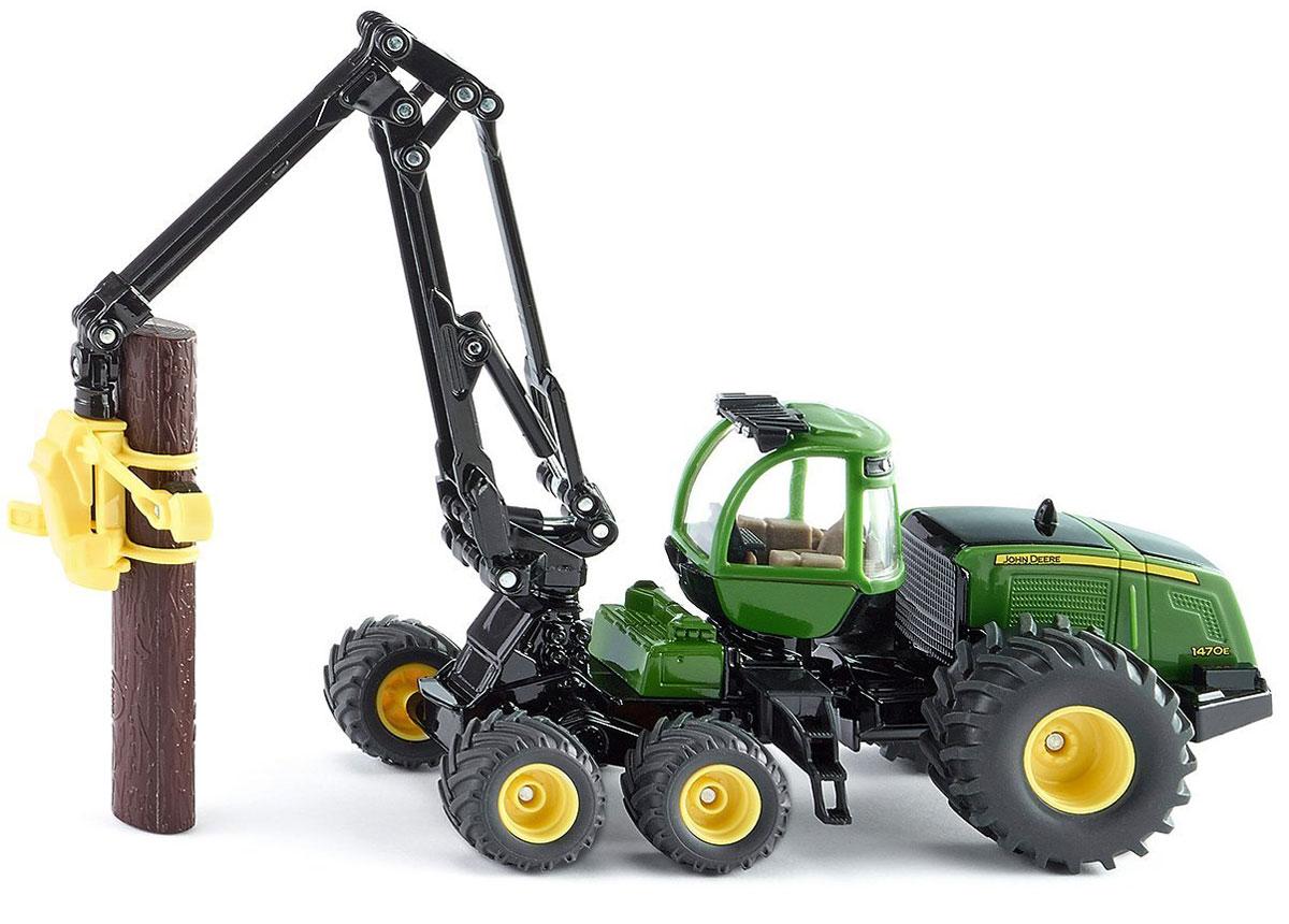 Siku Харвестер John Deere 1470E машинки tomy трактор john deere 6830 с двойными колесами и фронтальным погрузчиком