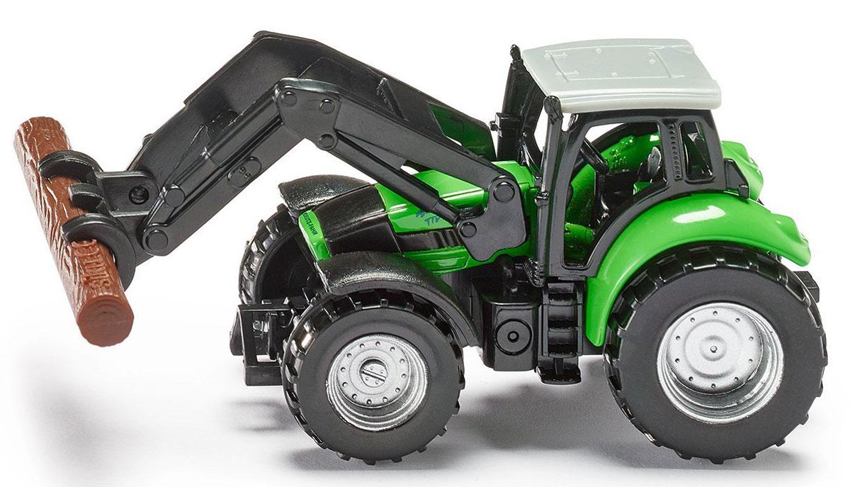 Siku Трактор Deutz Agrotron с захватом для бревен siku siku 0859 трактор deutz agrotron