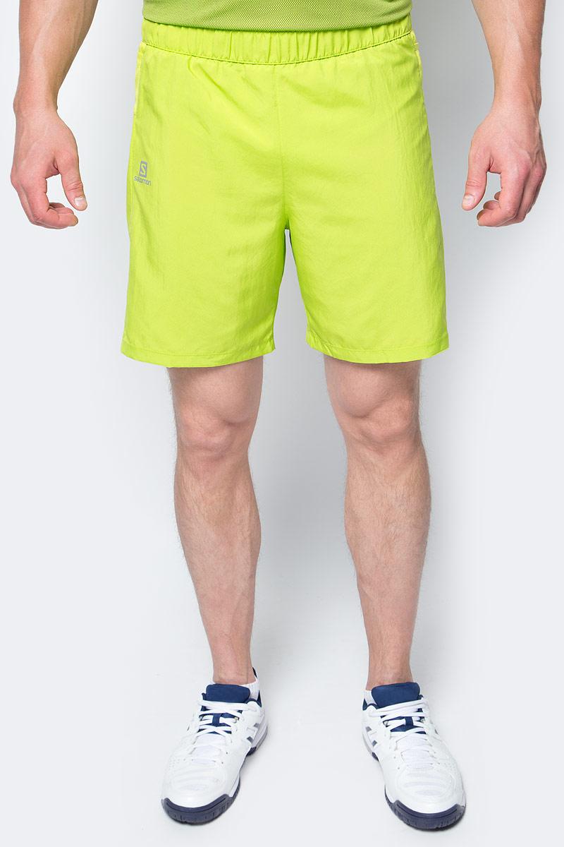 Шорты для бега мужские Salomon Trail Runner Short, цвет: салатовый. L39385800. Размер XL (56/58)L39385800Свободные легкие беговые шорты для мужчин Trail Runner изготовлены из качественного полиэстера. Шорты с удобными карманами в задней части пояса идеально подходят для занятий различными видами спорта в любое время года.