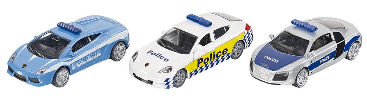 Siku Набор машинок Полиция 3 шт siku модель машины с прицепом и спортивной машиной 2544