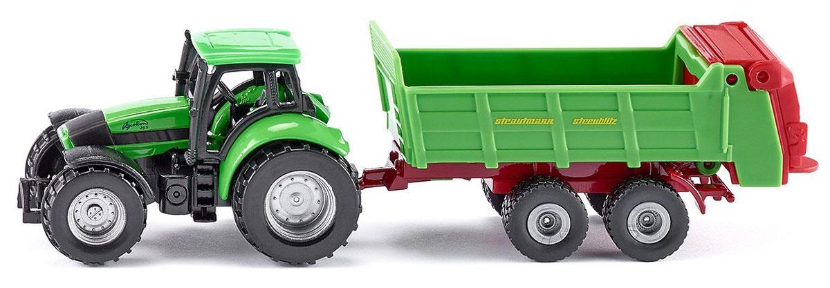 Siku Трактор Deutz Agrotron с прицепом для удобрений siku трактор jcb с прицепом