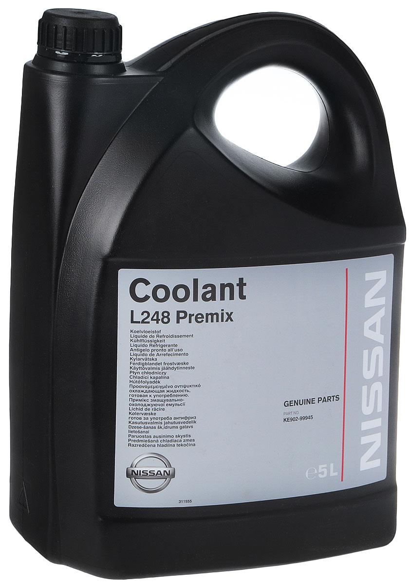 Антифриз готовый Nissan Coolant L 248 Premix, 5 лKE90299945Антифриз готовый Nissan Coolant L 248 Premix полностью удовлетворяет высоким требованиям систем охлаждения Nissan. От охлаждения двигателя автомобиля во многом зависит его надежность. Охлаждающая жидкость Nissan L248 предотвращает коррозию, утечки и выкипание. Этот уникальный продукт не имеет аналога. Он изготовлен в соответствии с международными стандартами и обеспечивает длительный срок эксплуатации систем охлаждения Nissan. Компания Nissan разработала уникальную формулу охлаждающей жидкости специально для автомобилей Nissan. Использование других жидкостей может быть потенциально опасным для автомобилей Nissan. Оригинальная охлаждающая жидкость Nissan является единственной одобренной для использования жидкостью для систем охлаждения всех автомобилей Nissan (кроме моделей Kubistar, Primastar, Interstar) и обеспечивает длительный срок службы деталей систем охлаждения. Для систем охлаждения новых коммерческих автомобилей малой грузоподъемности (Kubistar, Primastar, Interstar) предназначена охлаждающая жидкость типа D (смотрите техническую документацию).