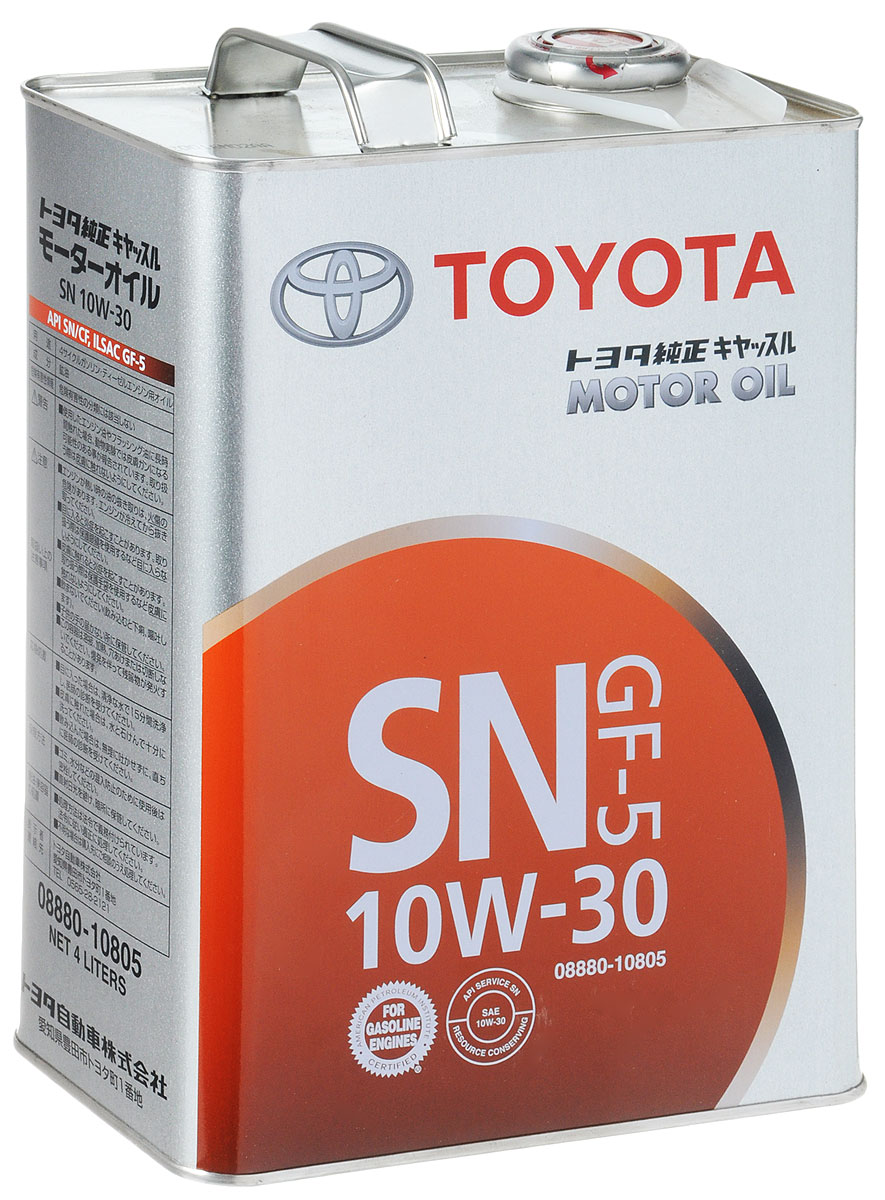 Моторное масло Toyota, 10W-30, 4 л моторное масло eneos ecostage 0w20 sn 4л синт