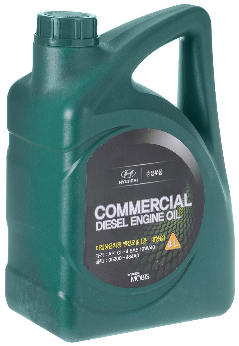 Масло моторное Hyundai Mobis Commercial Diesel, полусинтетическое, класс вязкости 10W-40, 4 л05200-484AOHyundai Mobis Commercial Diesel - высококачественное полусинтетическое масло для дизельных моторов легковых и грузовых автомобилей, в том числе оснащенных турбонаддувом, интеркулером или непосредственным впрыском. Позволяет обеспечить высочайший уровень эксплуатационных и защитных свойств и соответствует самым высоким требованиям современных высоконагруженных дизельных двигателей. Обладает очень высокими эксплуатационными свойствами, специально создано для обеспечения исключительной защиты современных высокофорсированных дизельных двигателей.Товар сертифицирован.