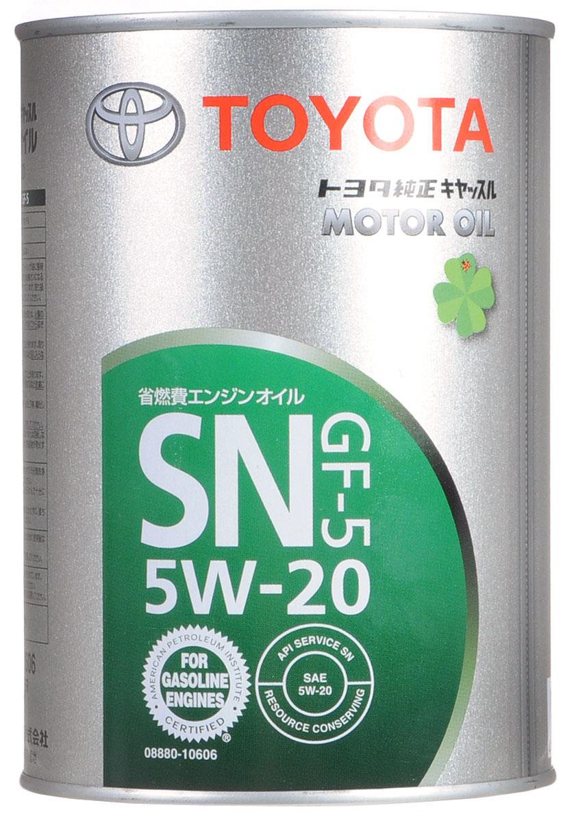 Масло моторное Toyota, синтетическое, класс вязкости 5W-20, 1 л08880-10606Моторное масло Toyota- это современное оригинальноемоторное масло. Рекомендуется к применению во всехбензиновыхдвигателях автомобилей марки Тойота, выпущенных после 2001 года. Полное наименование -TOYOTA Motor Oil 5W20 SN/GF-5. Является HC- синтетическим (гидрокрекинг-синтетика) и отлично подходит для использования в регионах с холодным климатом.Товар сертифицирован.