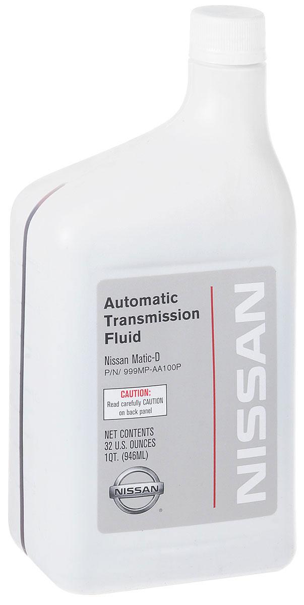 Жидкость трансмиссионная NISSAN ATF MATIC-D, синтетическое, 1 л999MP-AA100PТрансмиссионная жидкость NISSAN ATF MATIC-D - специальная жидкость для автоматической коробки передач автомобилей NISSAN. Используется в автомобилях оснащенных электронной системой автоматической коробки передач, электронной системой блокировки и полностью электронной системой автоматической коробки передач E-AT.Товар сертифицирован.