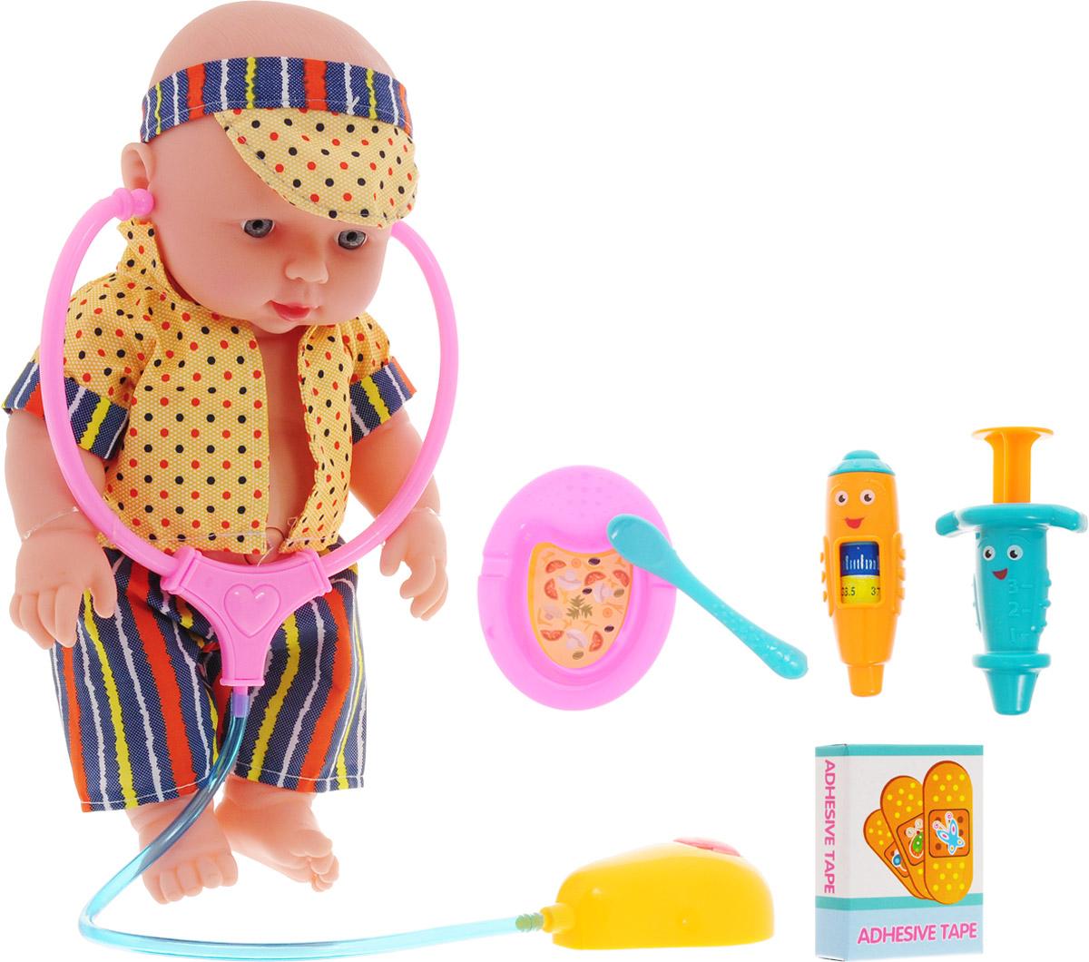 Город игр Пупс озвученный Baby MayMay Доктор цвет одежды желтый синий кукла город игр baby maymay gi 6423