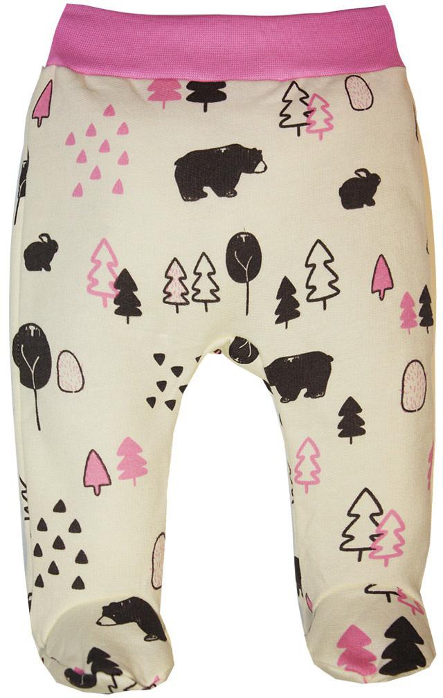 Ползунки на широком поясе для девочки КотМарКот, цвет: молочный, розовый. 5617. Размер 565617Ползунки КотМарКот изготовлены из натурального хлопка. Материал очень мягкий, отлично пропускает воздух, обеспечивая максимальный комфорт. Ползунки с закрытыми ножками имеют на талии широкий эластичный пояс, благодаря которому они не сдавливают животик ребенка и не сползают. Изделие оформлено принтом. Модель идеально подойдет для ношения с подгузником и без него.