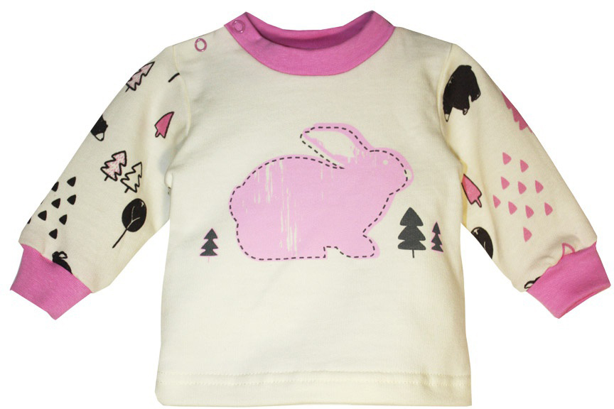 Кофточка для девочки КотМарКот, цвет: молочный, розовый. 7917. Размер 807917Кофточка для девочки КотМарКот выполнена из натурального хлопка. Изделие очень мягкое, приятное к телу, не сковывает движения и хорошо вентилируется, обеспечивая комфорт. Кофточка с круглым вырезом горловины и длинными рукавами имеет удобные застежки-кнопки по плечевому шву. На рукавах предусмотрены мягкие манжеты. Модель оформлена принтом. Кофточка полностью соответствует особенностям жизни младенца в ранний период, не стесняя и не ограничивая его в движениях.