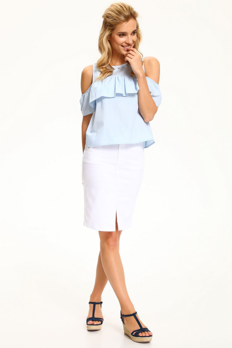 Блузка женская Top Secret, цвет: голубой. SBW0360BL. Размер 38 (46)