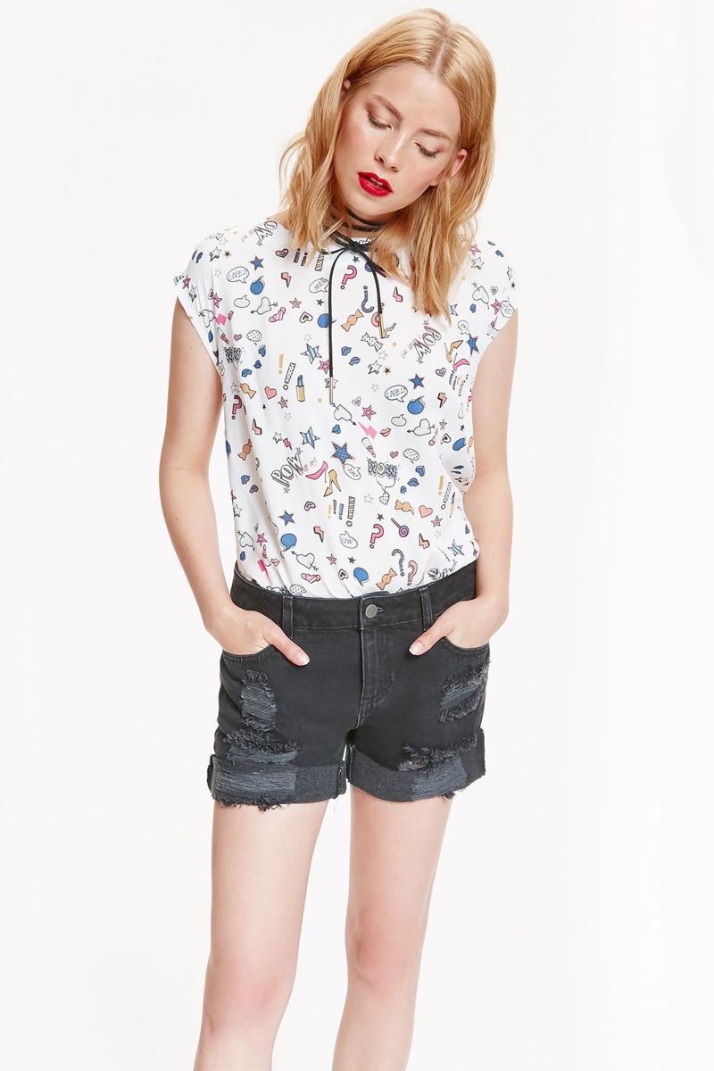 Шорты женские Top Secret, цвет: черный джинс. SSZ0822CA. Размер 42 (50) шорты женские top secret цвет оранжевый ssz0727po размер 36 42