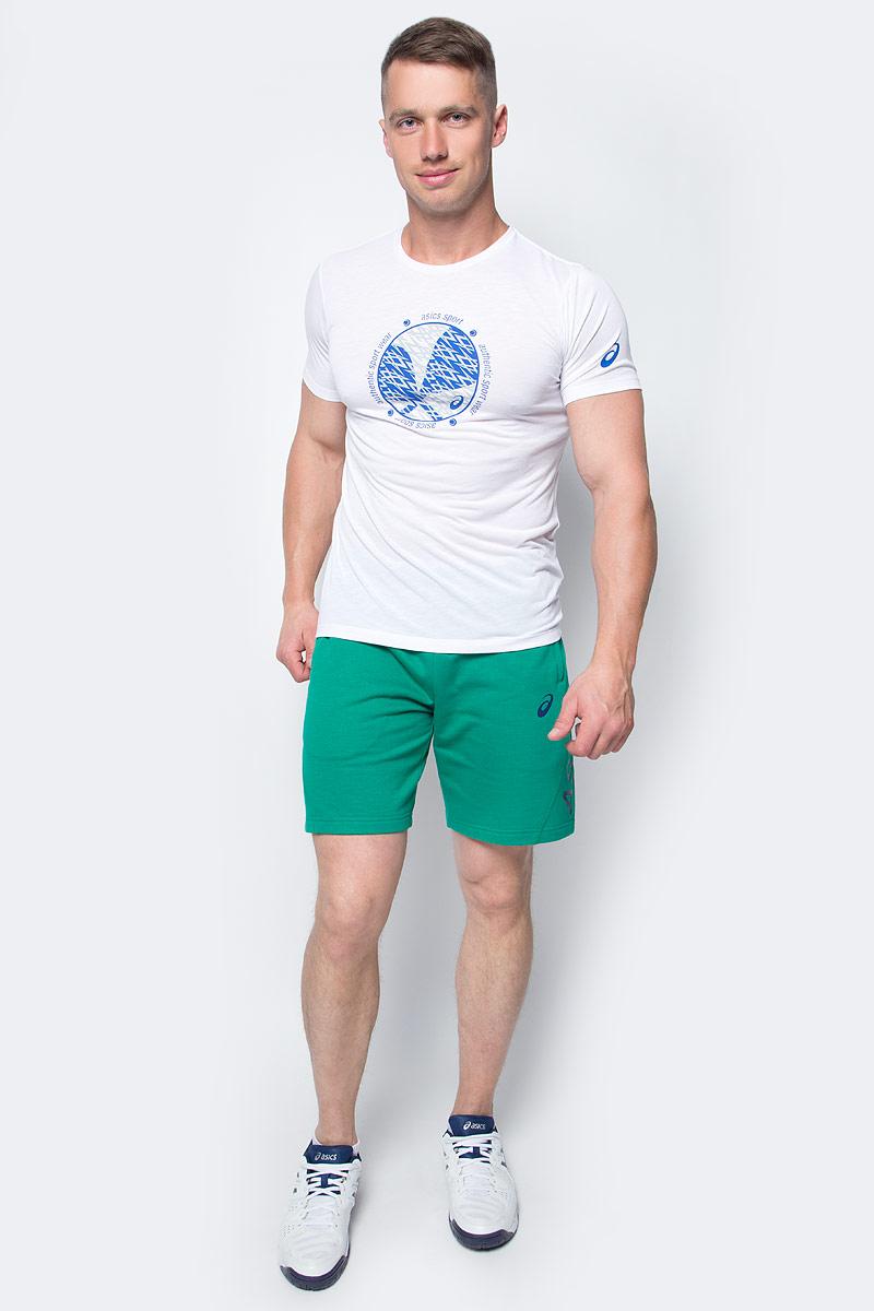 Футболка для тенниса мужская Asics Padel Gpx Top, цвет: белый. 141169-0001. Размер XXL (54/56) футболка asics футболка styled top