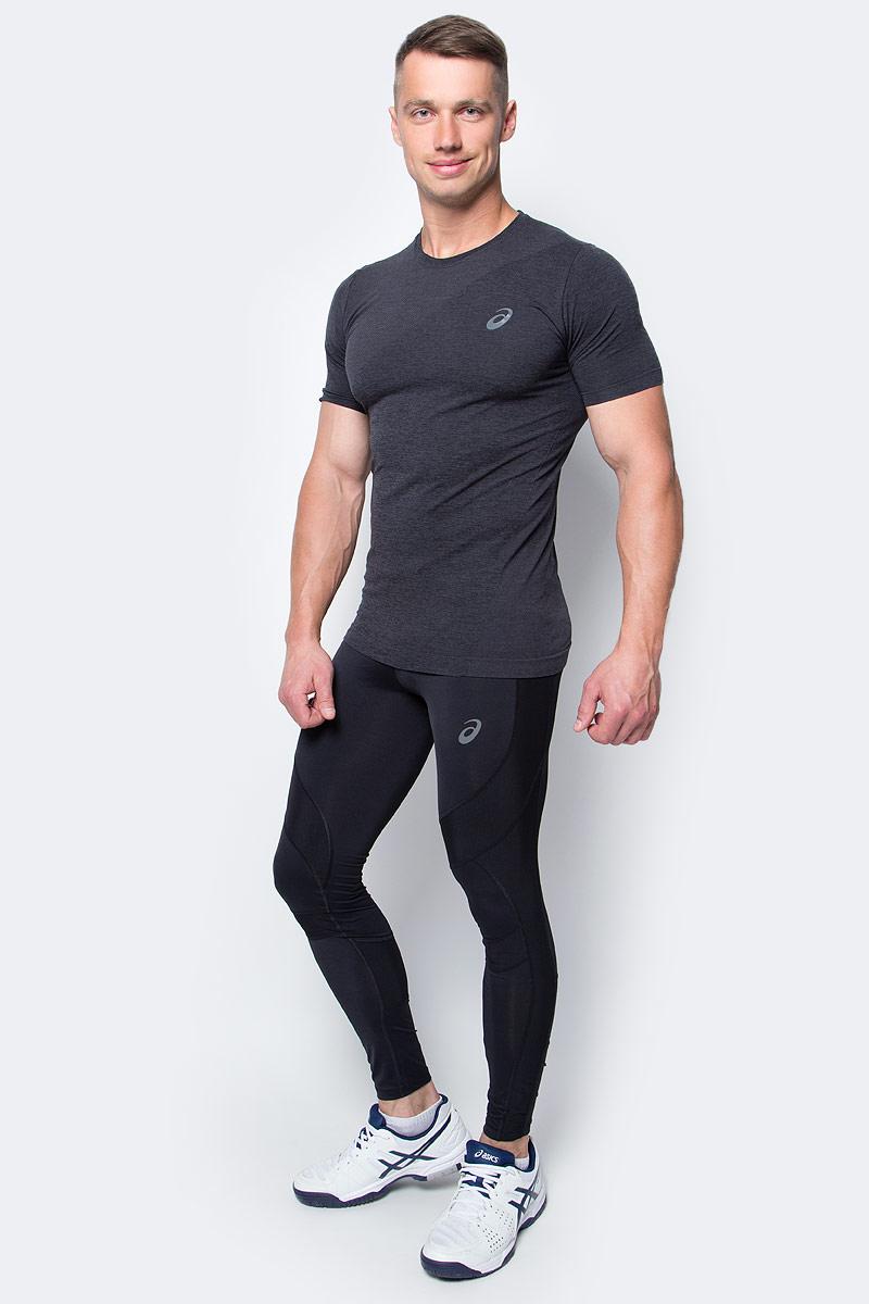 Тайтсы для бега мужские Asics Leg Balance Tight, цвет: черный. 143628-0901. Размер L (50/52)143628-0901Тайтсы для бега мужские Asics Leg Balance Tight изготовлены из высококачественного нейлона и спандекса, они великолепно тянутся. Обтягивающие тайтсы дополнены широкой эластичной резинкой на талии.