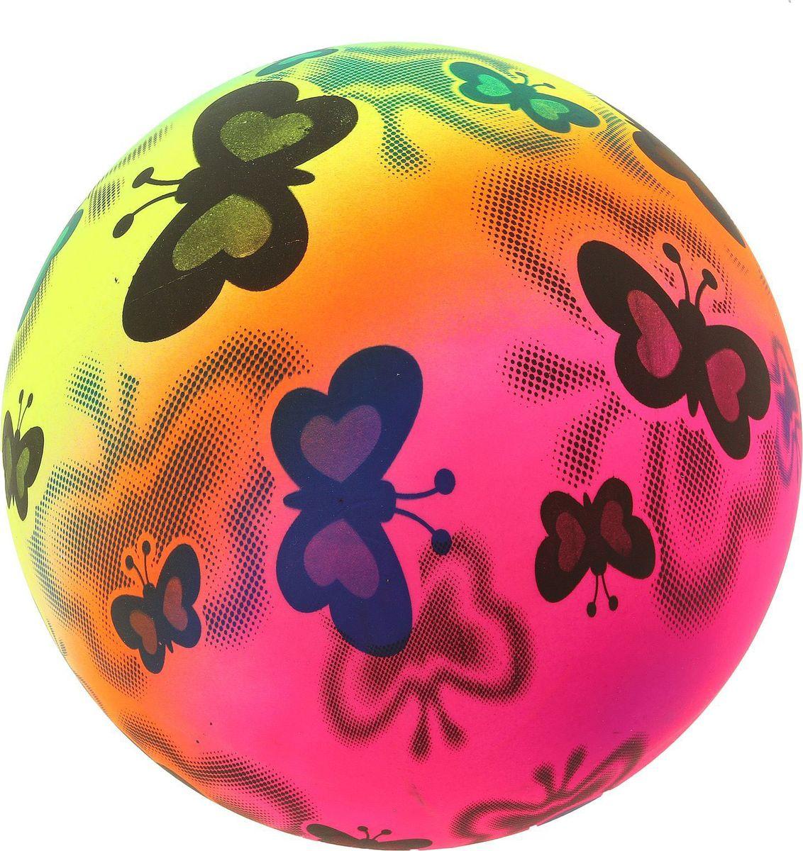 Забияка Мяч Бабочки 22 см