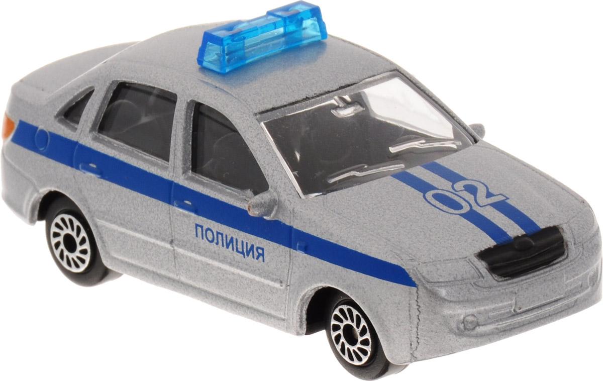 ТехноПарк Автомобиль Lada Granta Полиция цвет серебристый машины wader автомобиль констрак полиция