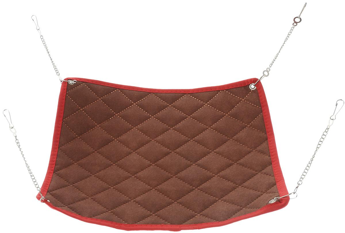 Гамак для грызунов Shu-Shu, цвет: коричневый, 30 х 30 см подушка постельная le yuan shu