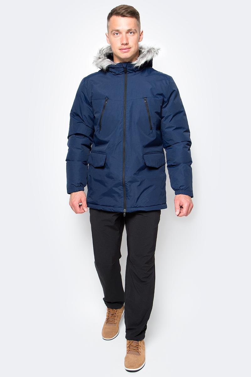 Куртка мужская adidas SDP Jacket Fur, цвет: темно-синий. AP9550. Размер XL (56/58)AP9550Эта мужская куртка согреет даже в самые холодные зимние дни. Уютный капюшон с отделкой из искусственного меха. Стильная светоотражающая обработка швов на рукавах. Модель приталенного кроя сшита из прочной ткани. Нагрудные карманы на молнии, прорезные карманы с клапанами на лицевой стороне. Синтетический утеплитель.