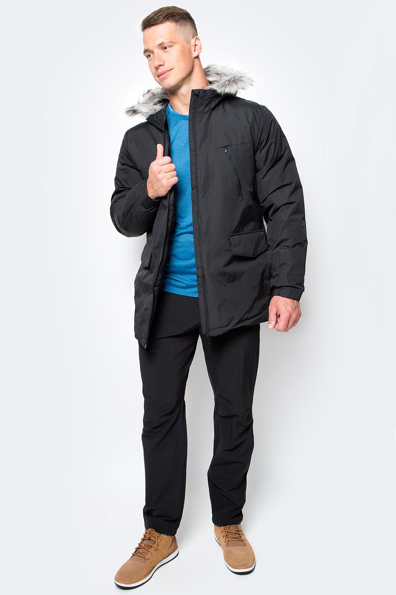 Куртка мужская adidas SDP Jacket Fur, цвет: черный. AP9551. Размер XL (56/58)AP9551Эта мужская куртка согреет даже в самые холодные зимние дни. Уютный капюшон с отделкой из искусственного меха. Стильная светоотражающая обработка швов на рукавах. Модель приталенного кроя сшита из прочной ткани. Нагрудные карманы на молнии, прорезные карманы с клапанами на лицевой стороне. Синтетический утеплитель.