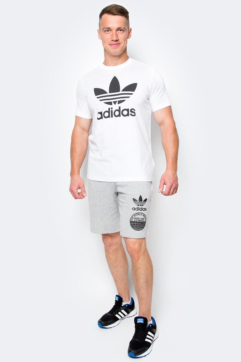 цены на Шорты спортивные мужские Adidas, цвет: серый. BP8941. Размер S (44/46) в интернет-магазинах
