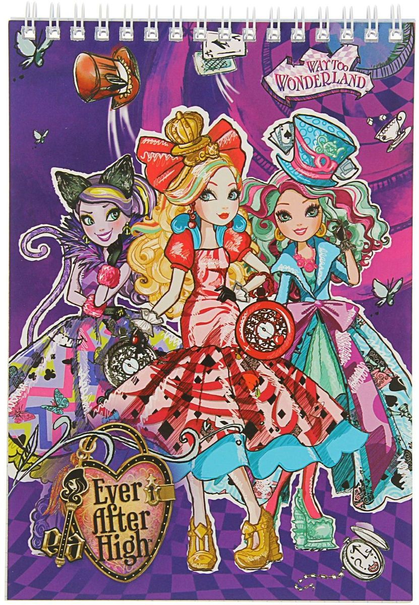 Ever After High Блокнот 60 листов в клетку mattel ever after high эшлин элла