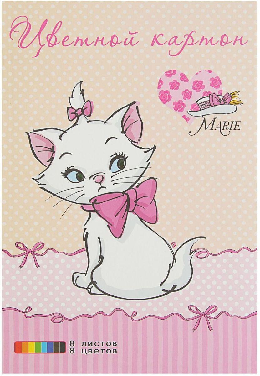 Disney Цветной картон Мари 8 листов 8 цветов
