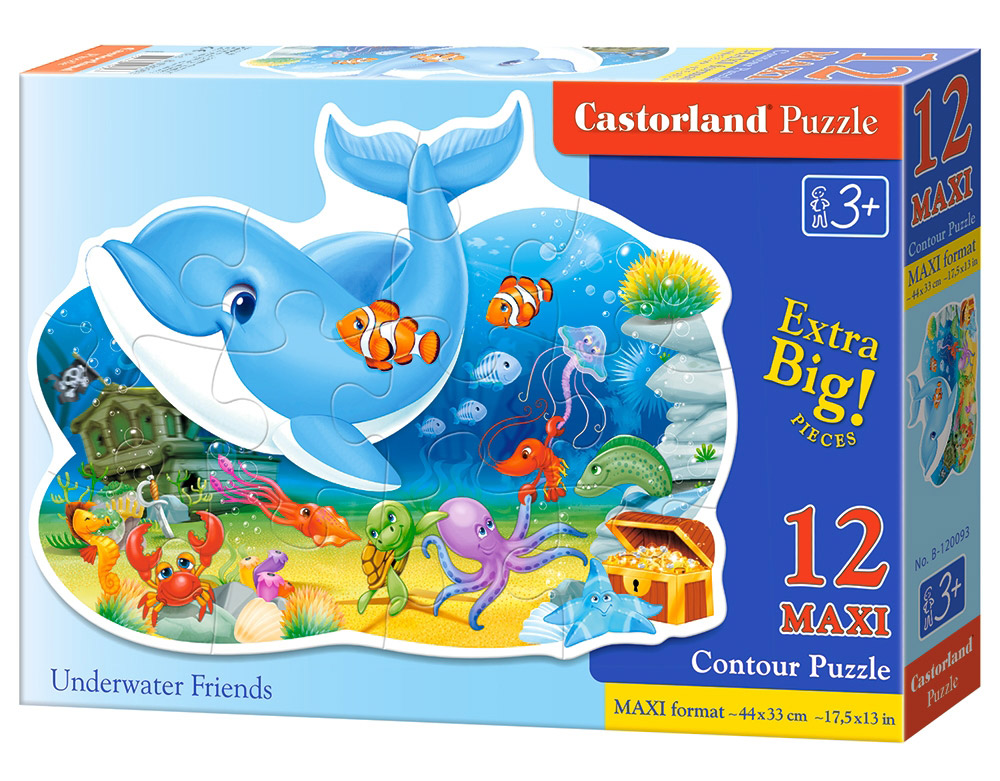 Castorland Пазл для малышей Подводные друзья castorland пазл для малышей в аэропорту