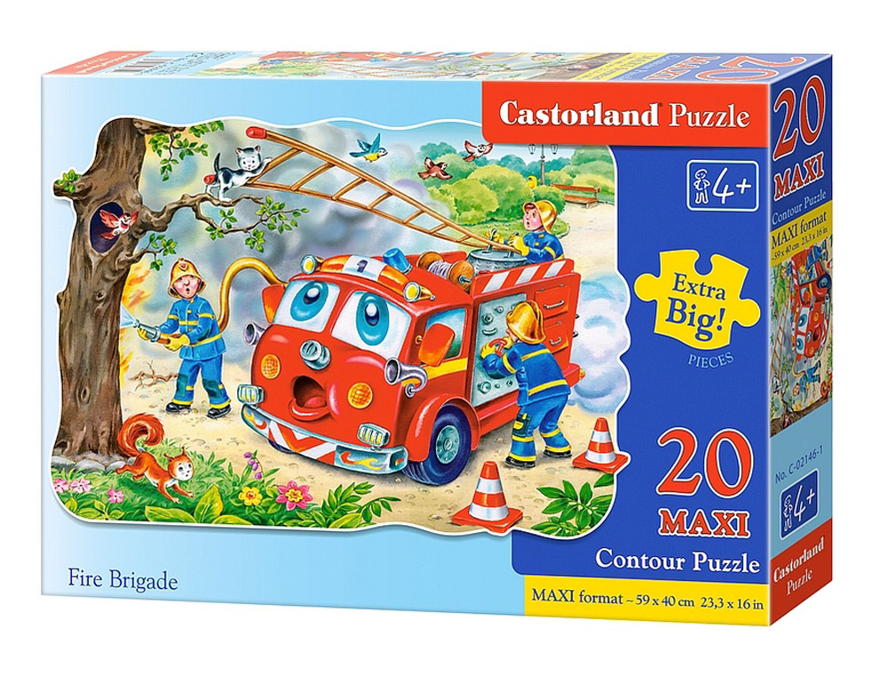 Castorland Пазл для малышей Пожарная машина castorland пазл для малышей в аэропорту