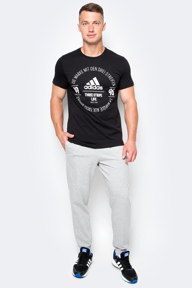 Брюки спортивные мужские adidas Ess T Pant Sj, цвет: серый. BK7406. Размер L (52/54) 3а super jet sj 20 dj t orange отпариватель