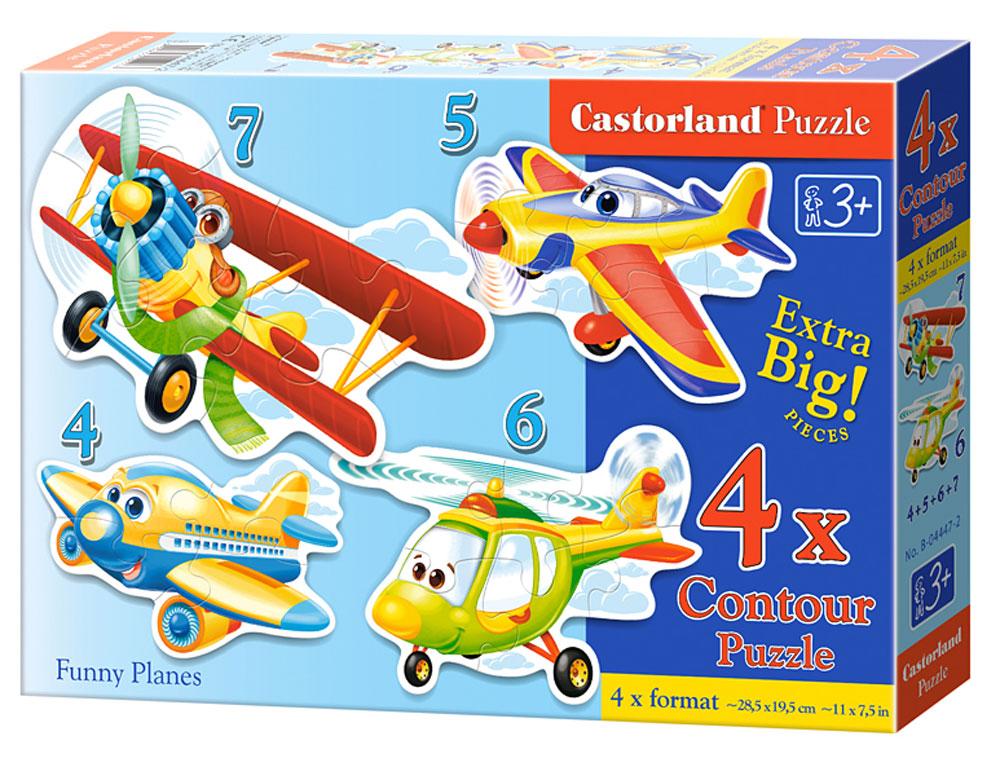 Castorland Пазл для малышей Забавные самолеты 4 в 1 learning journey пазл для малышей озорные фигуры 4 в 1