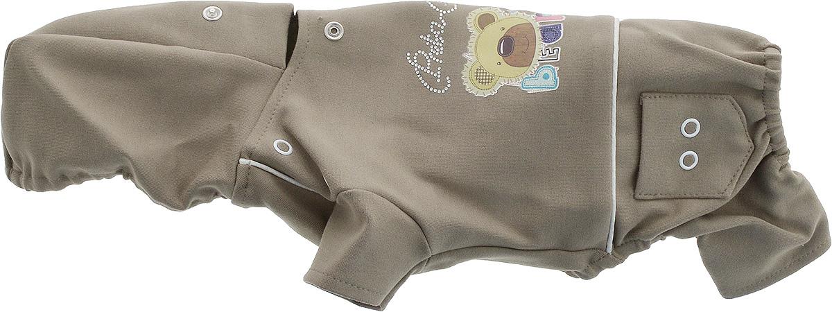 Комбинезон для собак GLG  Мультяшки , цвет: темно-бежевый. Размер XS - Одежда, обувь, украшения