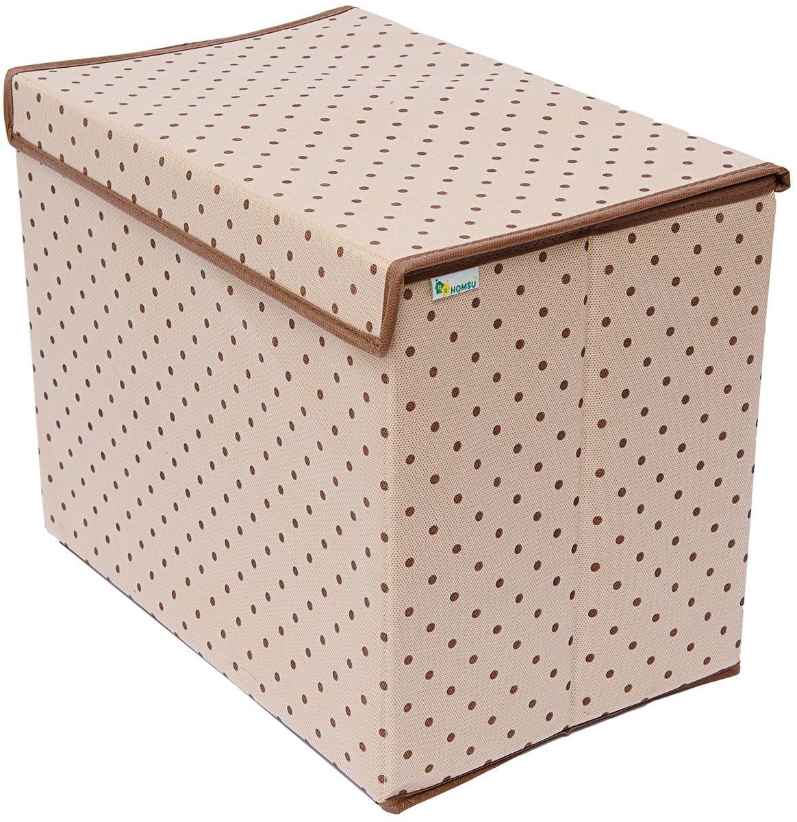 Коробка для хранения Homsu, с крышкой, 38 x 25 x 30 смHOM-794Универсальная коробка для хранения вещей с крышкой. Идеально подходит для хранения одежды, полотенец и других домашних принадлежностей. Выполнена в классическом дизайне, благодаря чему гармонично впишется в любой интерьер.