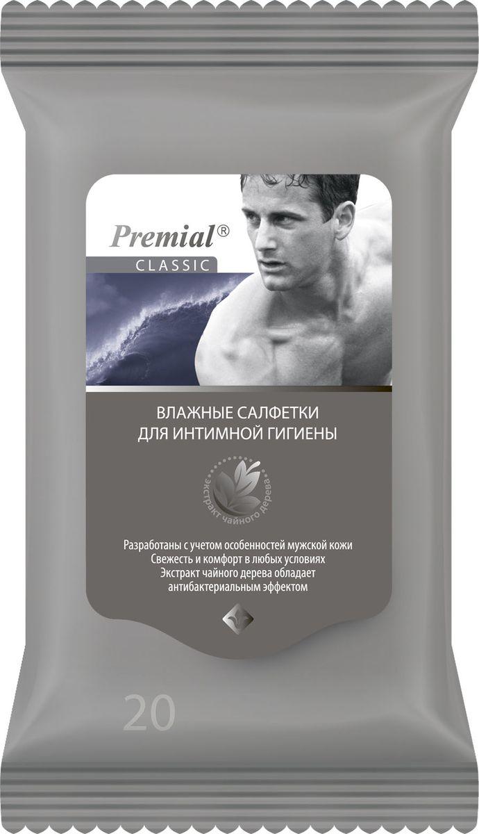 Premial Салфетки для интимной гигиены мужские, 20 шт
