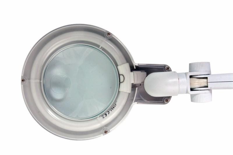 Лупа настольная малая 3Х +дополнительная 12Х с подсветкой, белая Rexant Rexant