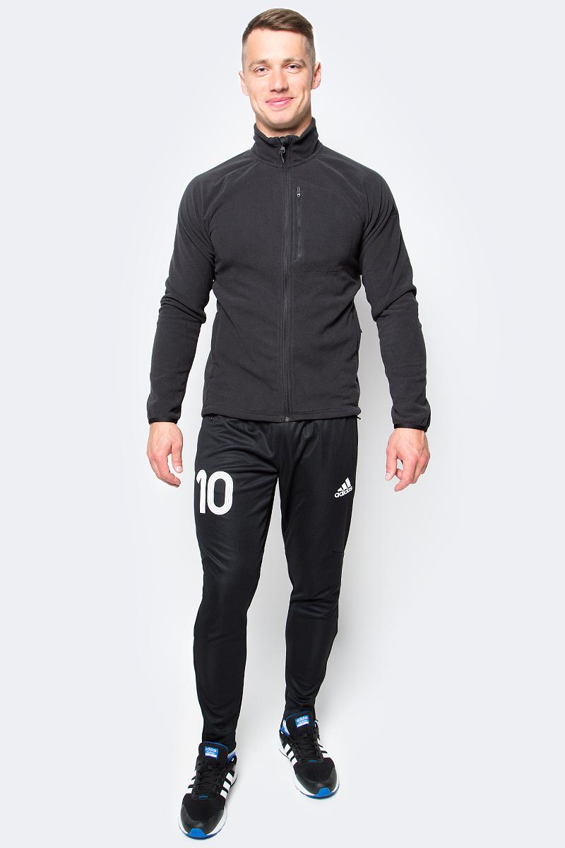 Толстовка мужская Adidas REACH FL J, цвет: черный. AP8383. Размер 46AP8383Толстовка мужская adidas Reach Fl J выполнена из 100% полиэстера. Модель с воротником стойкой и длинными рукавами.
