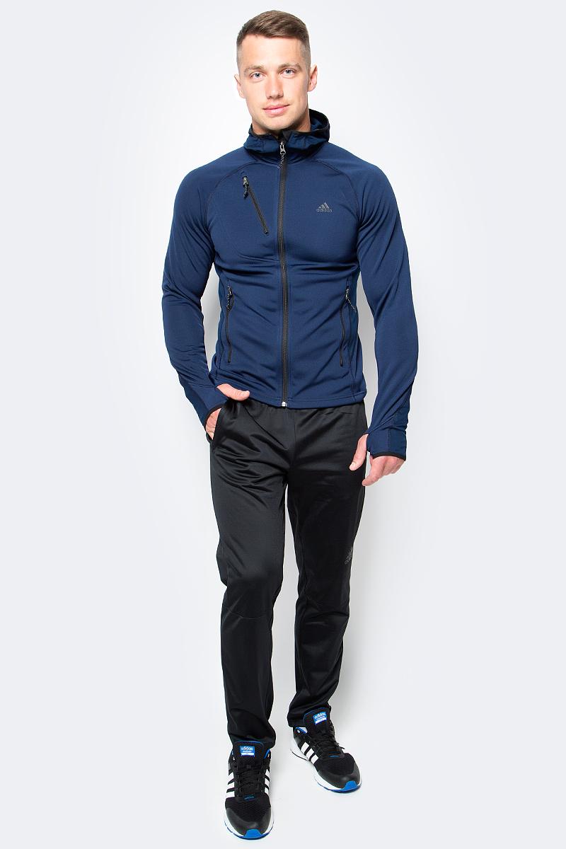 Брюки спортивные мужские adidas Workoutpantlite, цвет: черный. BK0948. Размер L (52/54)BK0948Спортивные мужские брюки Adidas Workoutpantlite изготовлены из качественного полиэстера. Слегка зауженная модель с дополнительными вставками на поясе сзади для идеальной посадки. Брюки оформлены широкой эластичной резинкой на поясе. Объем талии регулируется при помощи шнурка-кулиски. Брюки оснащены двумя втачными карманами спереди на застежках-молниях.