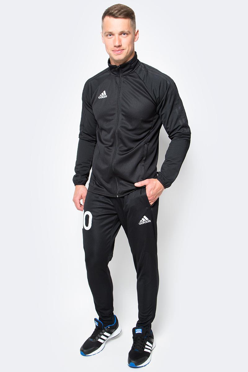 Ветровка для футбола мужская adidas Tiro17 Trg Jkt, цвет: черный. BJ9294. Размер L (52/54)BJ9294Ветровка для футбола мужская adidas Tiro17 Trg Jkt выполнена из 100% полиэстера. В этой спортивной куртке вы сможете тренироваться каждый день. Модель сшита из отводящей влагу ткани, сохраняющей ощущение комфорта и сухости. Ткань с технологией climalite быстро и эффективно отводит влагу с поверхности кожи, поддерживая комфортный микроклимат. Изделие с воротником-стойкой и длинными рукавами. Модель дополнена боковыми карманы на молнии. Манжеты с прорезями для больших пальцев удерживают рукава на месте и обеспечивают дополнительный комфорт.