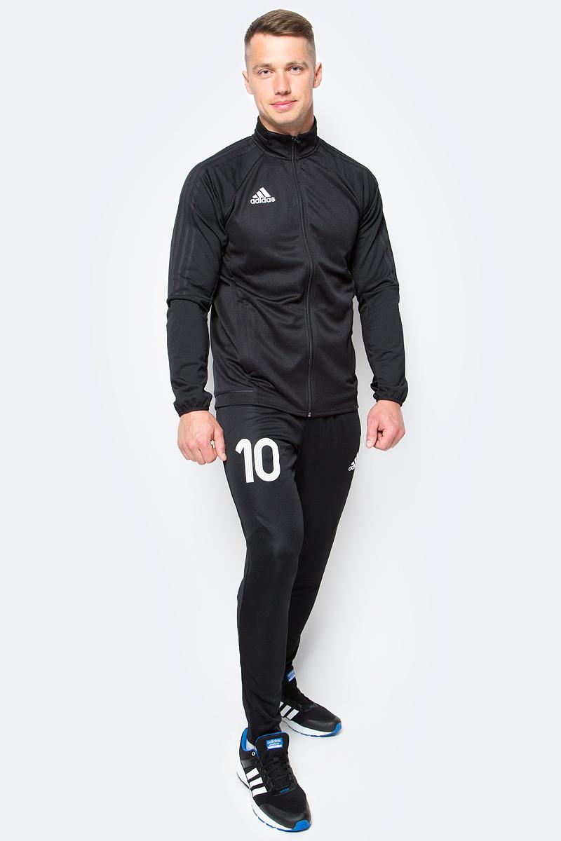 Брюки для футбола мужские adidas Tanip Trg Pnt, цвет: черный. AZ9705. Размер M (48/50)AZ9705Брюки для футбола мужские adidas Tanip Trg Pnt выполнены из 100% полиэстера.Модель дополнена эластичным поясом и прорезными карманами.