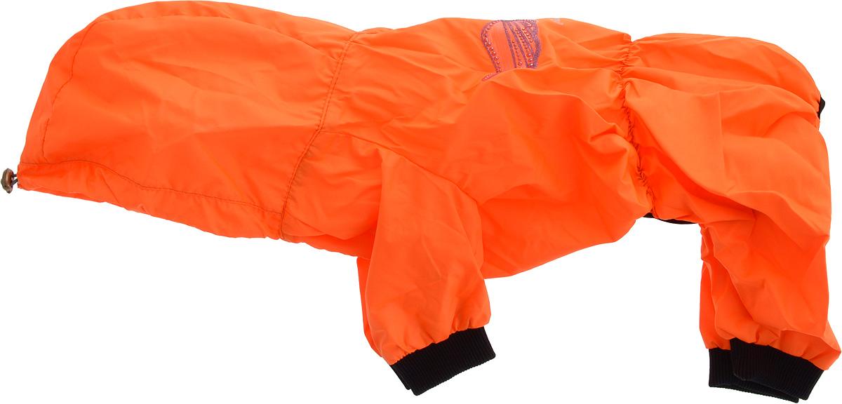 Дождевик прогулочный для собак GLG Крылья, цвет: оранжевый. Размер XLMOS-016-colors-XL_оранжевыйПрогулочный дождевик для собак GLG Крылья выполнен из высококачественного текстиля разной текстуры. Рукава не ограничивают свободу движений, и собачка будет чувствовать себя в ней комфортно. Изделие застегивается с помощью кнопок.Изделие оформлено декоративной нашивкой.Модная и невероятно удобный непромокаемый дождевик защитит вашего питомца от дождя и насекомых на улице, согреет дома или на даче.