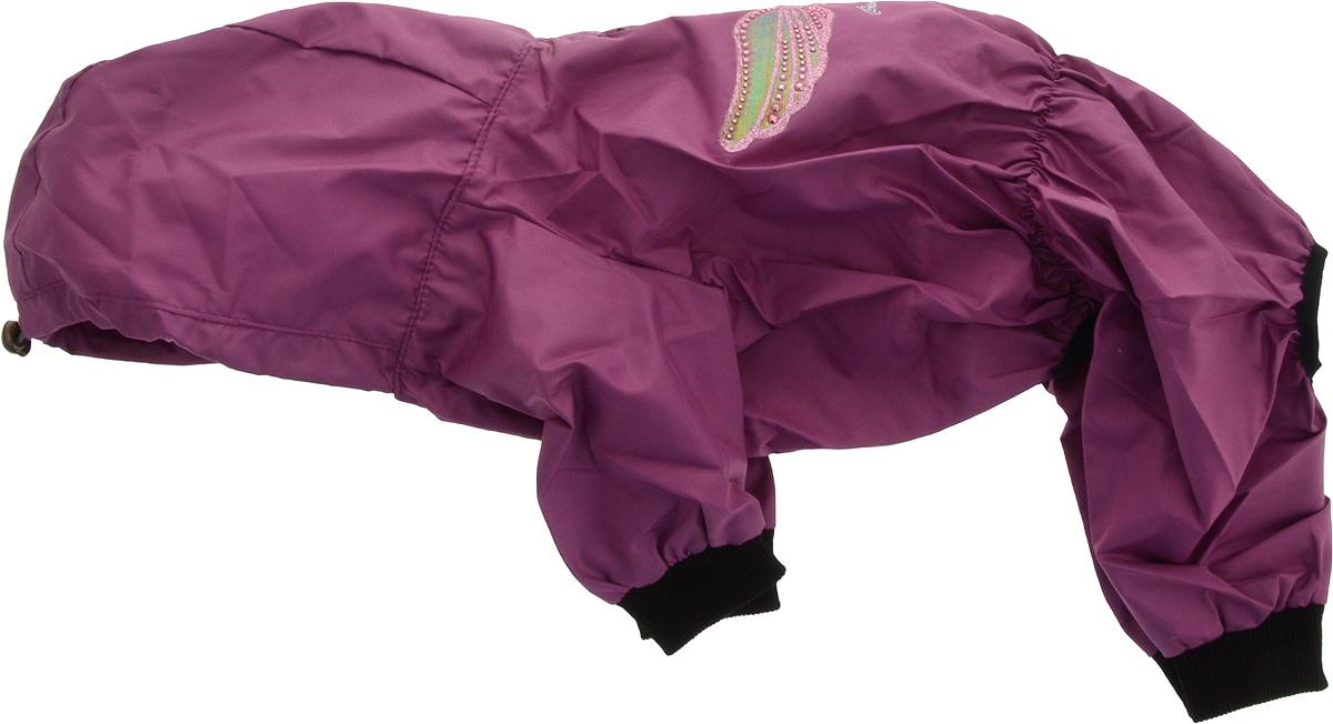 Дождевик прогулочный для собак GLG Крылья, цвет: фиолетовый. Размер LMOS-016-colors-L_фиолетовыйПрогулочный дождевик для собак GLG Крылья выполнен из высококачественного текстиля разной текстуры. Рукава не ограничивают свободу движений, и собачка будет чувствовать себя в ней комфортно. Изделие застегивается с помощью кнопок.Изделие оформлено декоративной нашивкой.Модная и невероятно удобный непромокаемый дождевик защитит вашего питомца от дождя и насекомых на улице, согреет дома или на даче.
