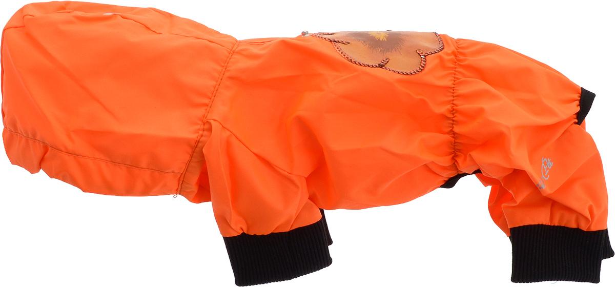 Дождевик прогулочный для собак GLG Цветок, цвет: оранжевый. Размер XS дождевик для собак