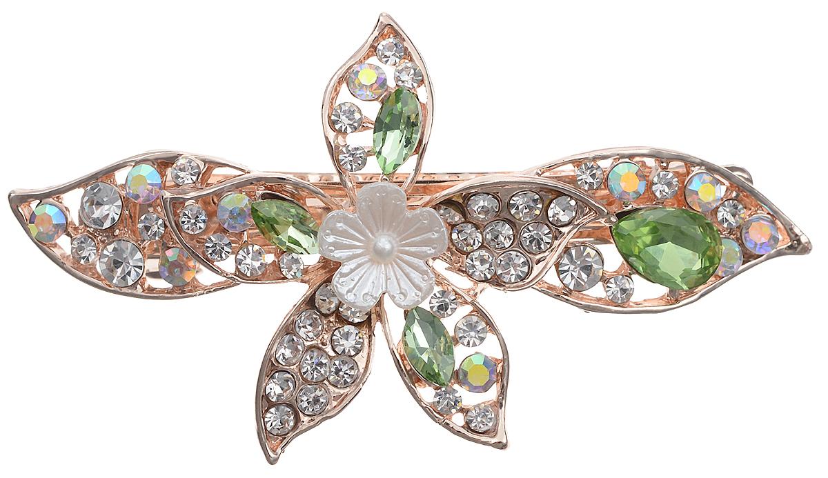 Заколка для волос Драгоценное лето от D.Mari. Кристаллы Aurora Borealis, кристаллы нежно-зеленого цвета, бижутерный сплав золотого тона. Гонконгpokka-4095-5-2Заколка для волос Драгоценное лето. Гонконг.D.Mari.Кристаллы Aurora Borealis, кристаллы нежно-зеленого цвета, бижутерный сплав золотого тона.Размер - 7 х 4 см.Сохранность хорошая.