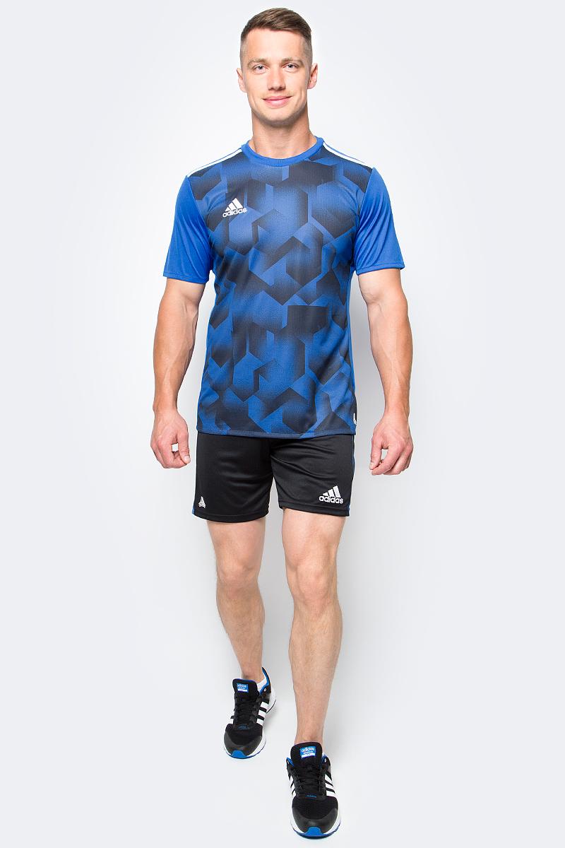 Шорты футбольные мужские adidas Tanc Shorts, цвет: черный, синий. AZ9729. Размер M (48/50)AZ9729Шорты футбольные мужские adidas Tanc Shorts выполнены из 100% полиэстера. Прекрасно подходят для интенсивных тренировок.