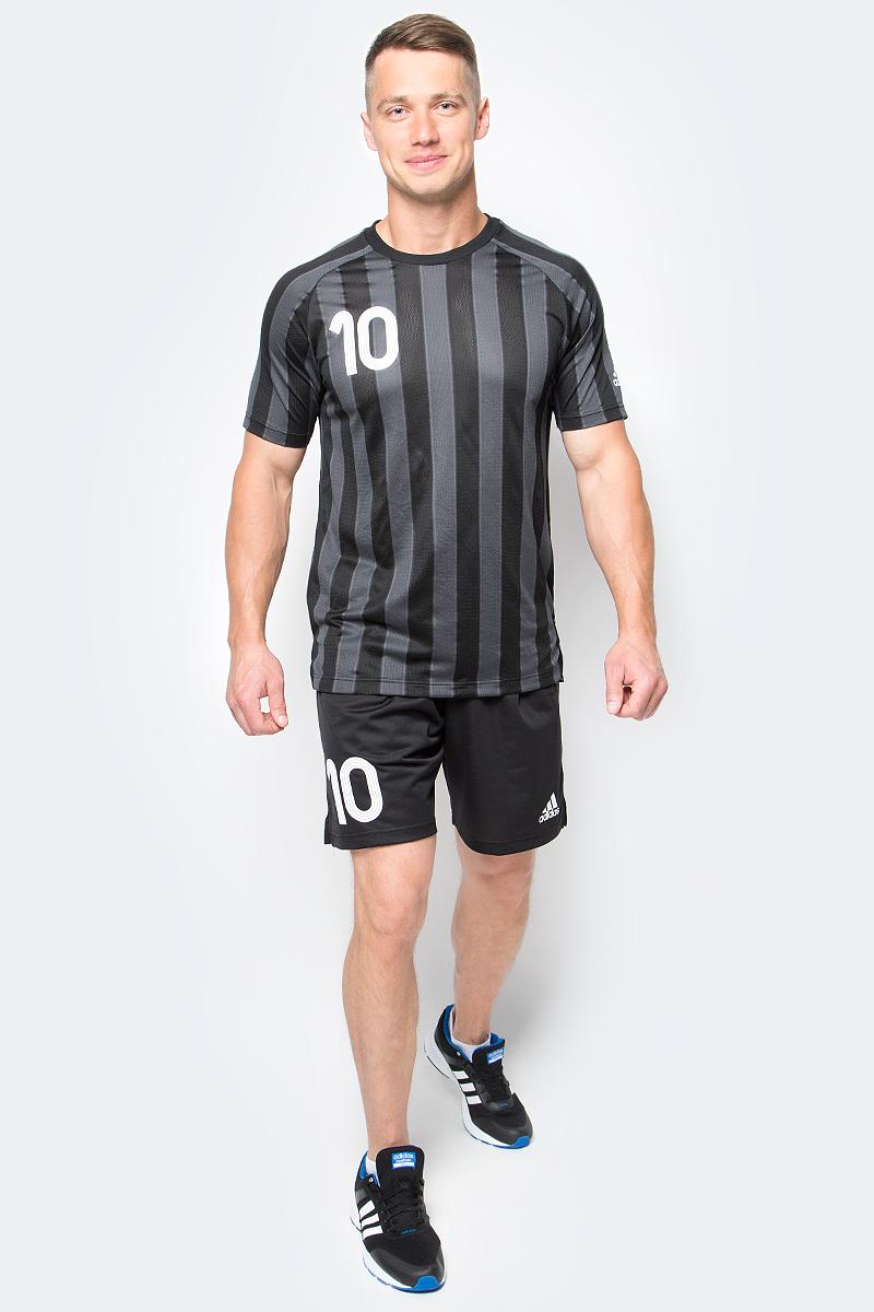 Шорты футбольные мужские adidas Tanip Short, цвет: черный. AZ9714. Размер M (48/50)AZ9714Шорты футбольные мужские adidas Tanip Short выполнены из 100% полиэстера. Прекрасно подходят для интенсивных тренировок.