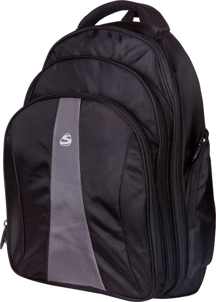Steiner Рюкзак цвет черный 1-ST71-ST7Рюкзак Steiner - стильный и строгий рюкзак для мужчин и подростков, многофункциональный и вместительный. Благодаря средним размерам, наличию множества карманов, универсальной расцветке рюкзак подойдет, как для школьников и студентов, так и мужчинам для городских передвижений.Рюкзак имеет анатомическую, дышащую спинку; плотные широкие легко регулируемые лямки, которые позволяют равномерно распределять нагрузку на спину. Влагоизоляционный материал не даст промокнуть рюкзаку. Изделие имеет уплотненную ручку для переноски в руках; дополнительную ручку-петлю для подвешивания рюкзака на крючок; качественные молнии, защищающие попадание влаги внутрь рюкзака.