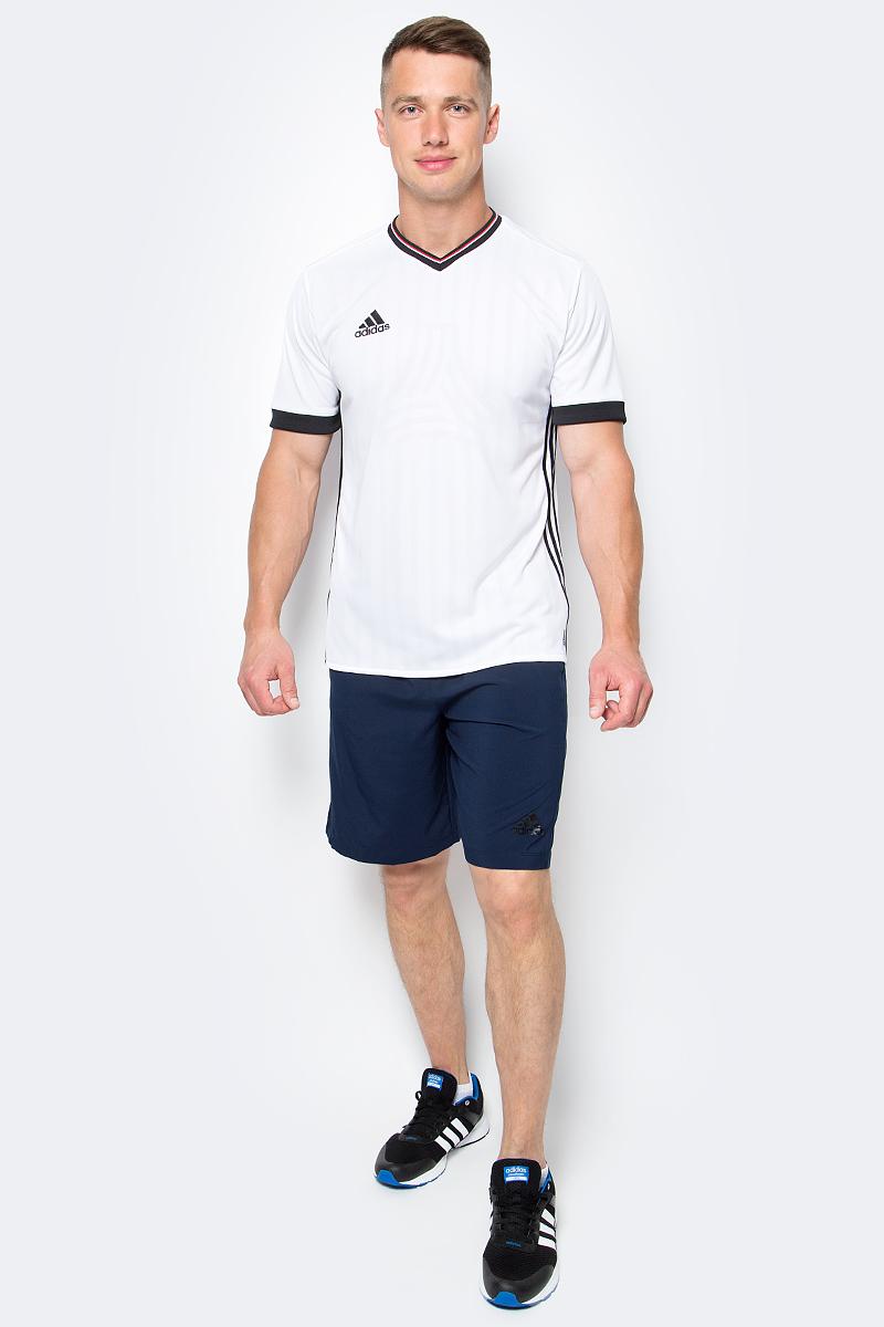 Шорты мужские adidas D2M Wvn Shor, цвет: синий. BP8107. Размер L (52/54)BP8107Мужские спортивные шорты adidas D2M Wvn Shor из отводящей влагу ткани сохраняют ощущение сухости и комфорта во время напряженных тренировок. Ткань с технологией climalite быстро и эффективно отводит влагу с поверхности кожи, поддерживая комфортный микроклимат.