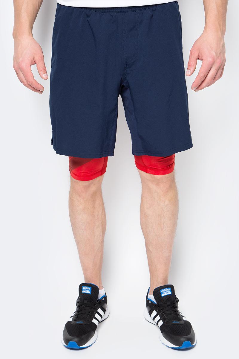 Мужские шорты adidas Crazytr Sh 2In1 сшиты из эластичной ткани, которая обеспечивает полную свободу движений во время приседаний и выпадов. Легкая модель дополнена внутренними шортами для повышенного комфорта и карманом на молнии для хранения полезных мелочей.