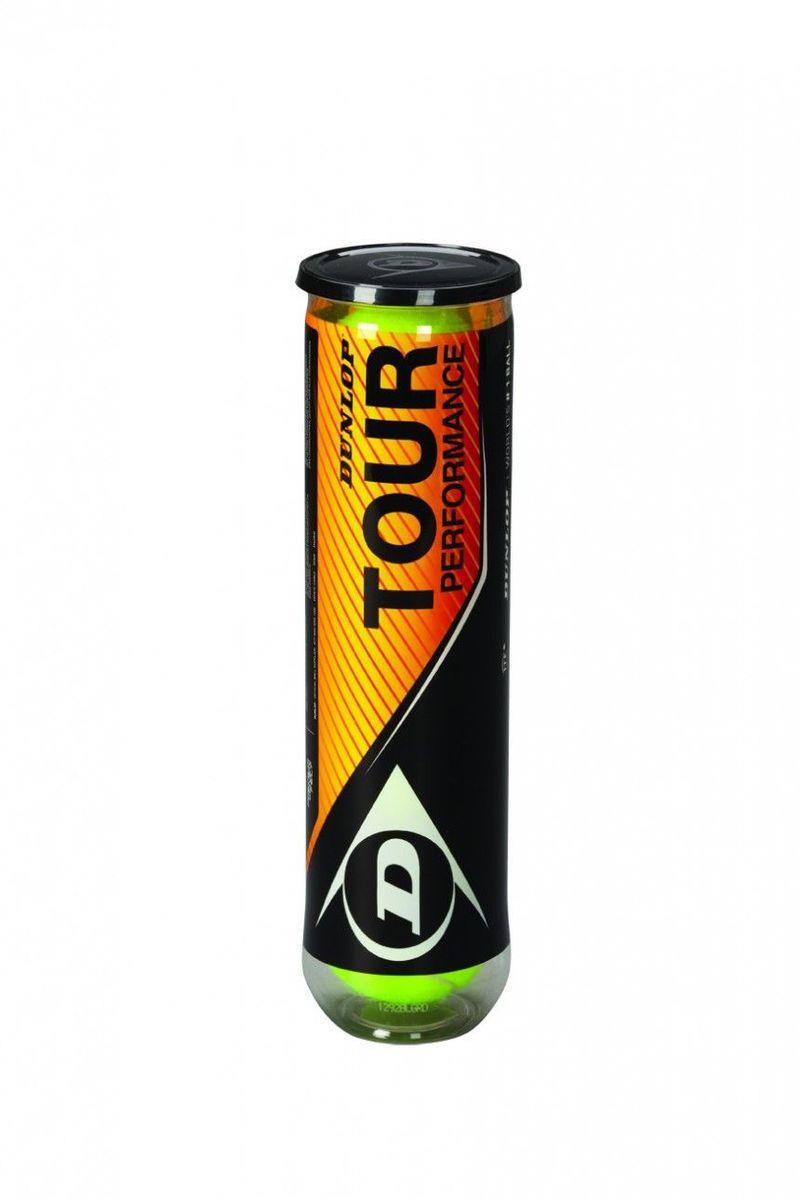 Мячи теннисные Dunlop Tour Performance 4B, 4 шт602199Превосходный универсальный мяч Tour Performance с фетром класса премиум подходит для любых видов корта. Технология Dunlop HD Core улучшает прочность мяча и обеспечивает стабильные игровые характеристики.В комплекте 4 мяча.